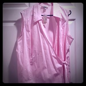 Top blouse  dressbarn size  3X Color  pink  new